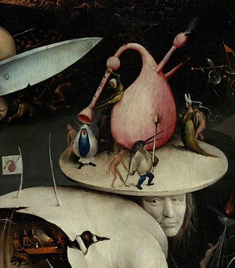 "Hieronymus Bosch. Detalje fra ""De jordiske glæders have"""